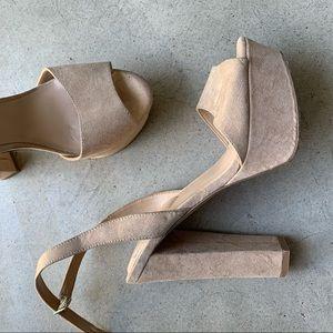 ALDO heels tan - Worn 1x like NEW- block heel